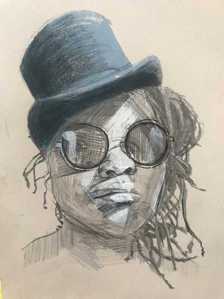 Sithabile Mlotshwa, painting by DJ Jager